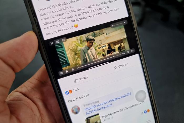 Mời gọi xem Bố Già bản 'Full HD', chiêu trò mới để đánh cắp tài khoản Facebook Ảnh 1