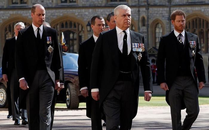 Hoàng tử William và Harry lần đầu hội ngộ trong lễ tang ông nội sau hơn một năm không gặp Ảnh 1