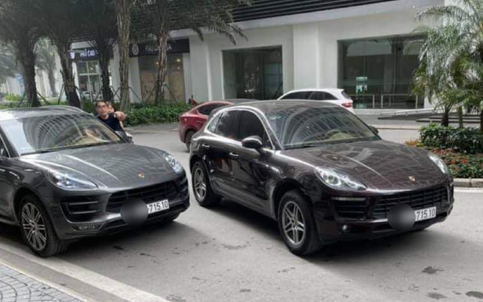Hà Nội: Hai xe sang Porsche cùng biển số bất ngờ 'chạm mặt' tại sảnh chung cư khiến nhiều người ngỡ ngàng Ảnh 1