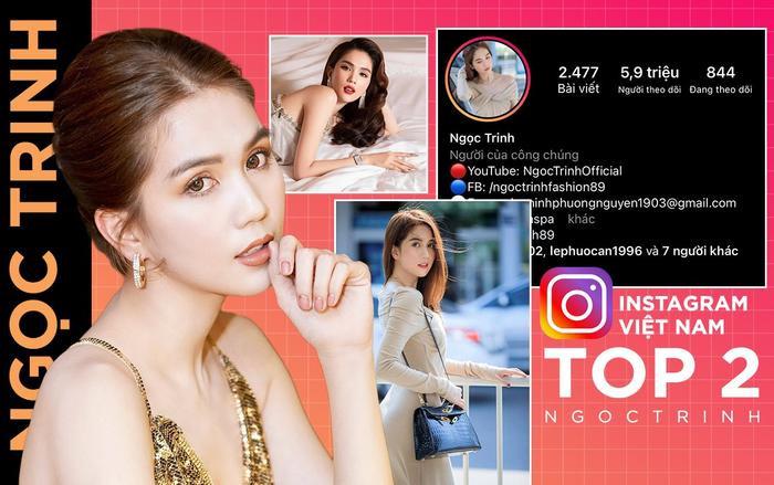 Ngọc Trinh xuất sắc lọt top 2 nhân vật 'thống trị' mạng xã hội Instagram Việt Ảnh 1