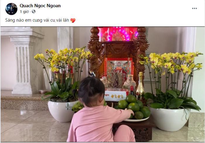 Quách Ngọc Ngoan hạnh phúc khoe khoảnh khắc bình yên bên con gái nhỏ giữa lùm xùm chia tay Phượng Chanel Ảnh 3