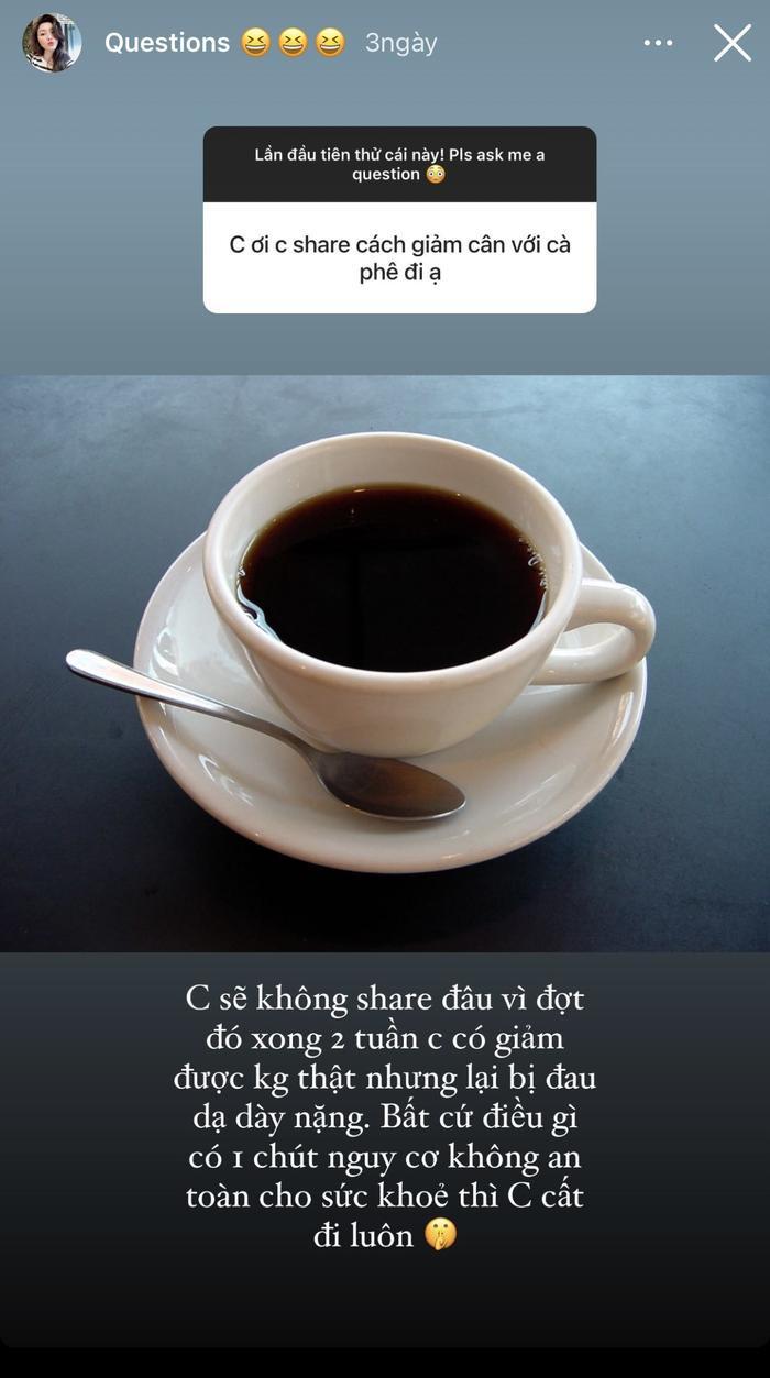 Bảo Thy cảnh tỉnh fan hâm mộ tác hại của việc siết cân bằng cà phê Ảnh 1
