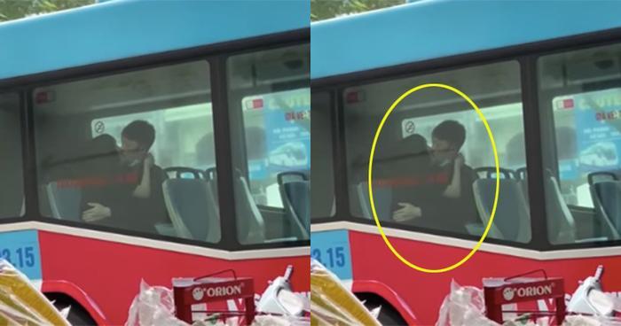 Thản nhiên diễn 'cảnh nóng' trên xe buýt, đôi trẻ khiến nhiều người ngao ngán Ảnh 1