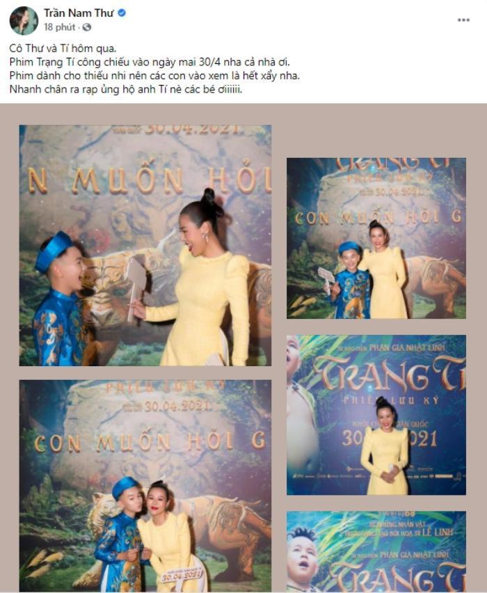 Vài nghệ sĩ hiếm hoi ủng hộ 'Trạng Tí' trước ngày phim ra rạp: Tóc Tiên là người có tâm nhất! Ảnh 12
