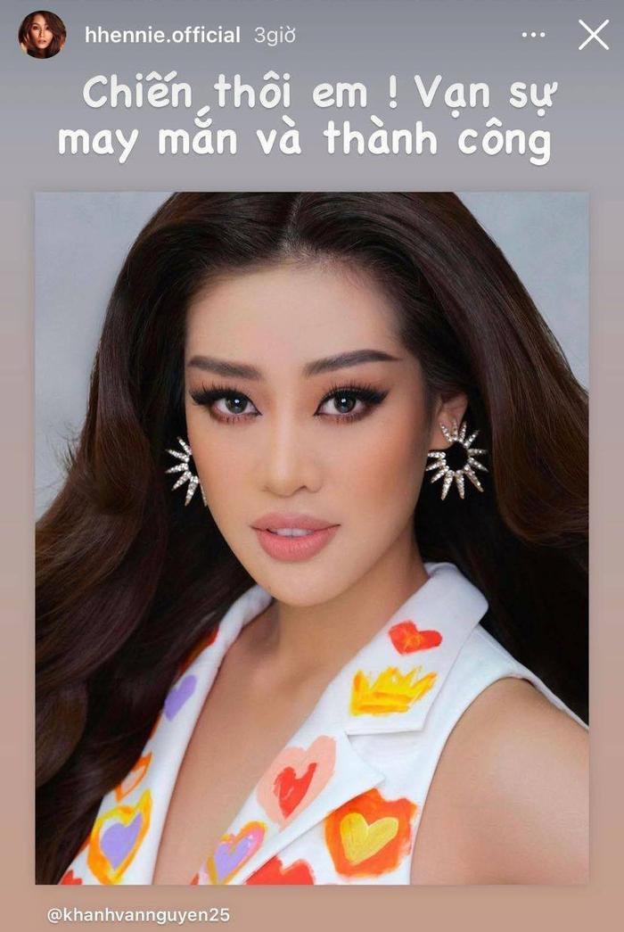 NSƯT Hồng Vân, Võ Hoàng Yến, Minh Tú, H'Hen Niê cổ vũ Khánh Vân thi Miss Universe 2020 Ảnh 16