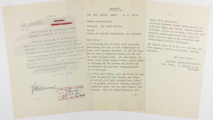 Trùm phát xít Hitler viết gì trong 'thư tuyệt mệnh'? Ảnh 1