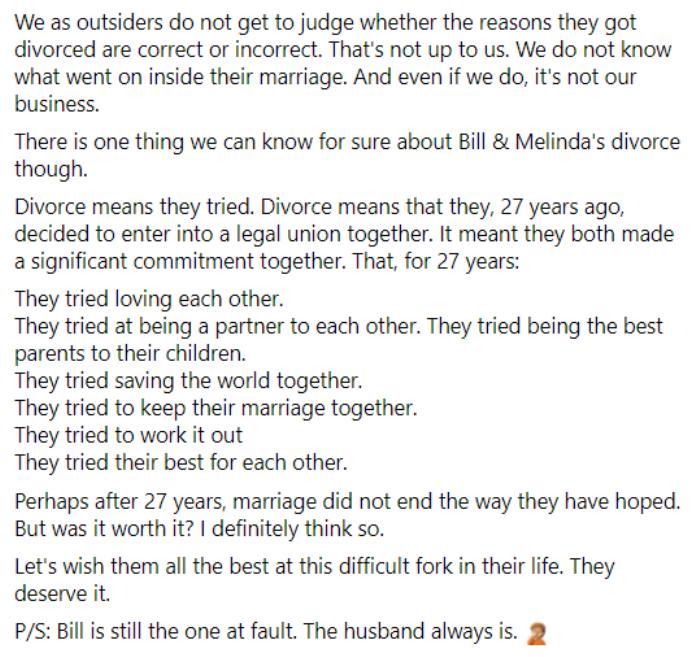 Ông xã Đặng Thu Thảo nhìn nhận về cuộc tình 27 năm của Bill Gates: 'Ly hôn không có nghĩa là họ thất bại' Ảnh 5