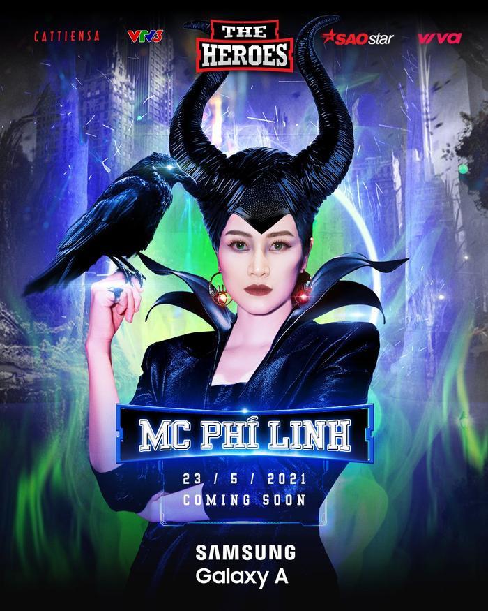 MC Phí Linh hóa thân thành Maleficent cầm trịch show âm nhạc hot nhất mùa hè The Heroes 2021 Ảnh 1