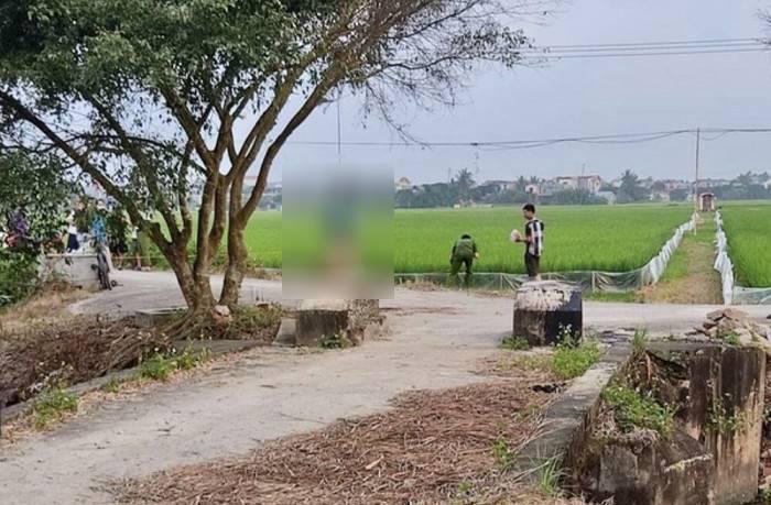 Người đàn ông ở Thái Bình tử vong trong tư thế treo cổ bằng dải khăn tang gần cánh đồng Ảnh 1