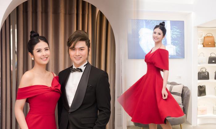 Hoa hậu Ngọc Hân thay 3 váy, điệu đà e ấp bên siêu mẫu nam điển trai Ảnh 3