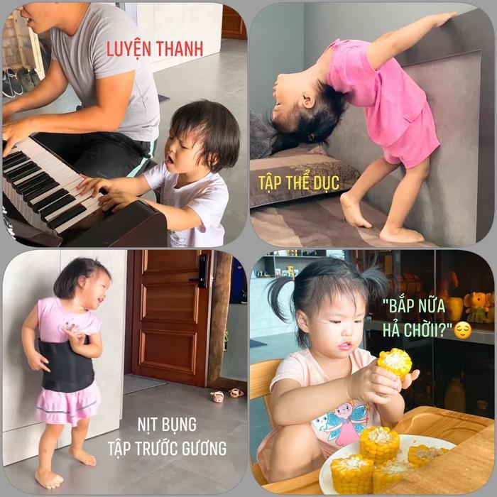 Con gái Lê Phương 'gân cổ' hát như ca sĩ chuyện nghiệp, ai nhìn cũng cưng Ảnh 8