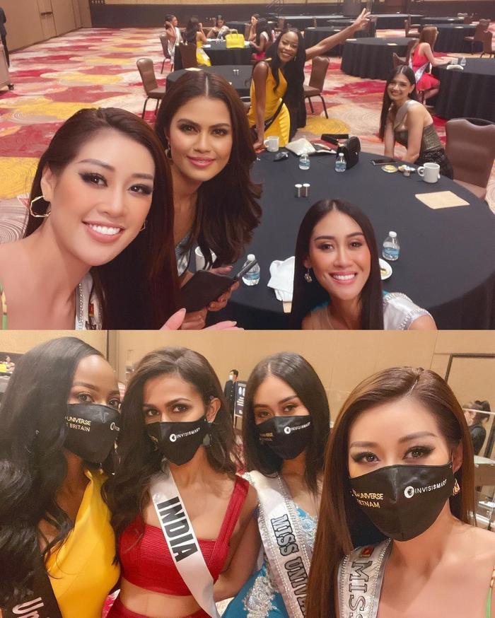 Ngày 2 Miss Universe: Khánh Vân khoe eo siêu gợi cảm, đẹp nức nở bên dàn đối thủ 'hổ chiến' Ảnh 5