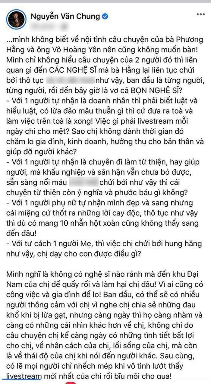 Nhạc sĩ Nguyễn Văn Chung chỉ đích danh bà Phương Hằng: 'Mang 10 nhẫn hột xoàn cũng không sang' Ảnh 4