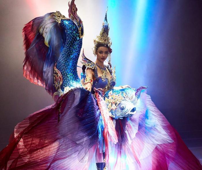 Trang phục dân tộc hoa hậu Thái Lan thiếu hiệu ứng, vướng scandal 'đạo nhái' vẫn hot rần rần Ảnh 1