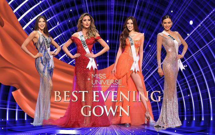 10 bộ váy dạ hội đẹp nhất bán kết Miss Universe: Khánh Vân xứng đáng giật giải Best Evening Gown Ảnh 1
