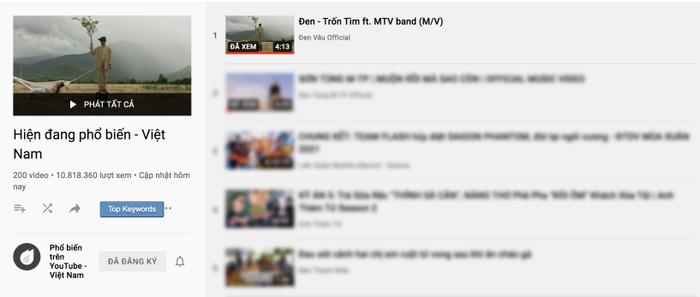 Đen Vâu là nghệ sĩ có nhiều MV #1 trending Youtube nhất V-Pop Ảnh 2