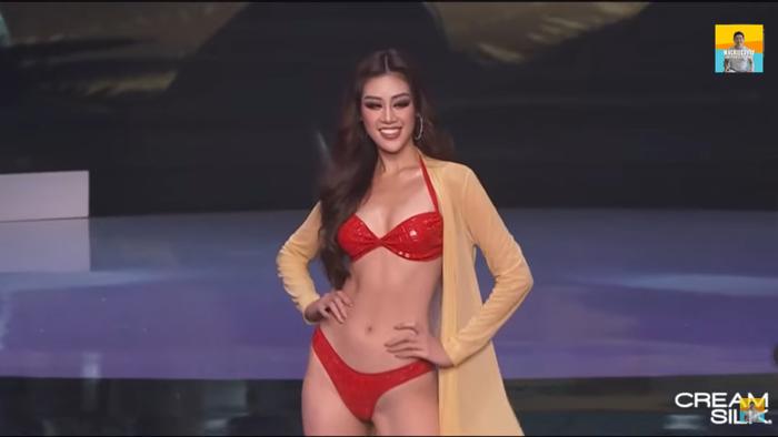 Trực tiếp chung kết Miss Universe 2020: Phần bikini, Khánh Vân đốt mắt khán giả với bộ đồ đỏ siêu bốc lửa Ảnh 40