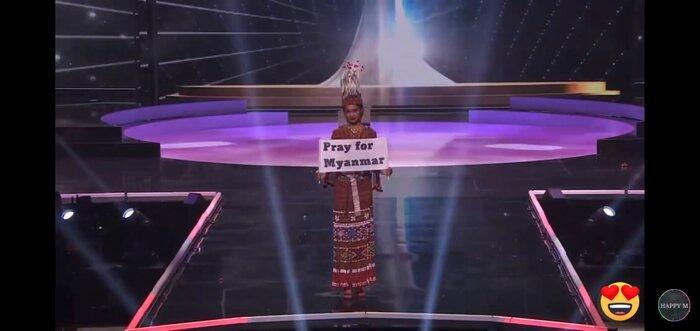 Mất hành lý, Hoa hậu Myanmar diễn đồ kiều bào tặng, nhận giải Trang phục dân tộc đẹp nhất MU20 Ảnh 3