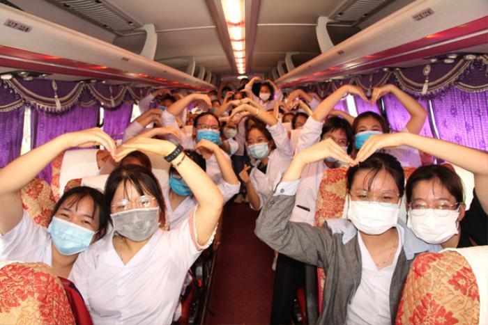 250 sinh viên trường Y lên đường chi viện cho Bắc Giang, Bắc Ninh truy vết Covid-19 Ảnh 2