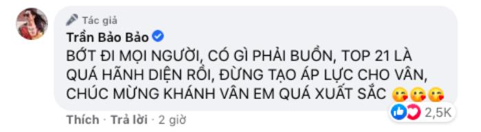 Loạt sao Việt gửi lời động viên Khánh Vân: 'Đừng buồn! Ở nhà có chị em chờ' Ảnh 7
