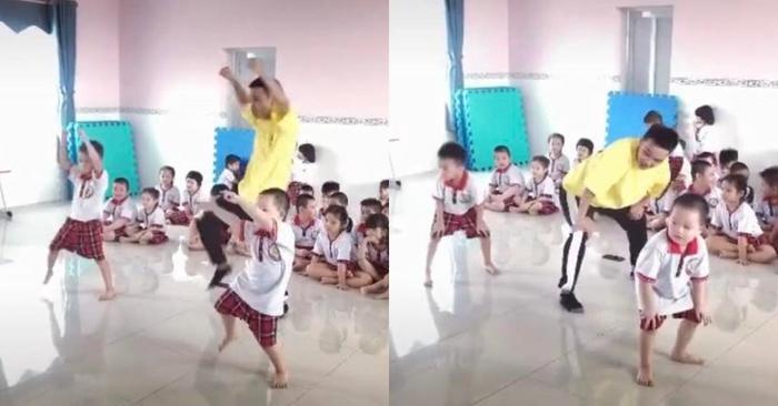 Hai bé trai mẫu giáo với màn thể hiện vũ đạo cực 'chất' khiến nhiều người trầm trồ Ảnh 2