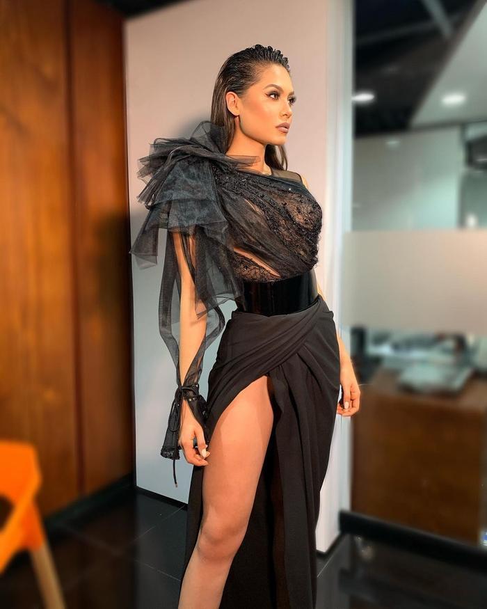Tân Hoa hậu Hoàn Vũ body thô, đùi to nhưng vẫn chinh phục được loạt váy cắt xẻ Ảnh 9