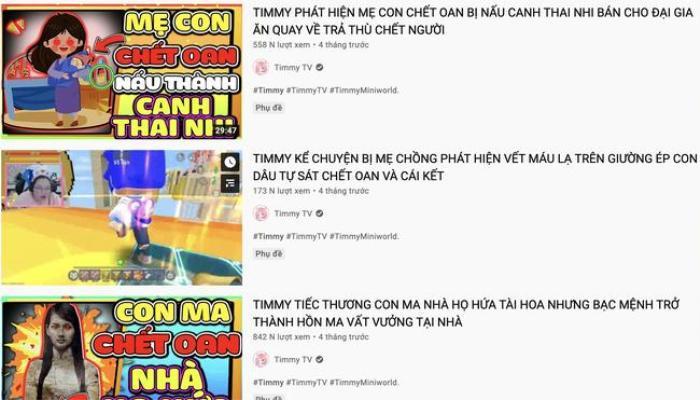 Cục trẻ em đề nghị 'xóa sổ' TIMMY TV - kênh YouTube độc hại, ảnh hưởng tới trẻ em Ảnh 4