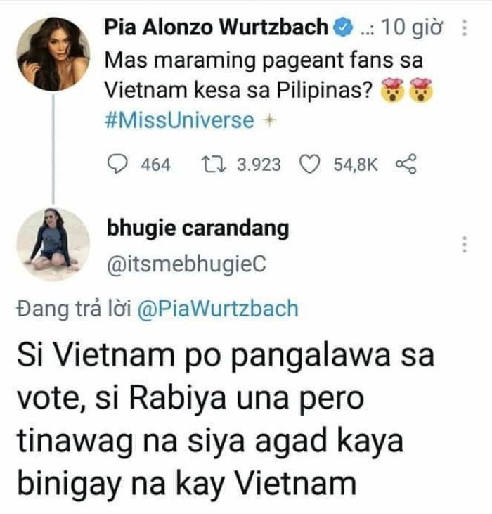 Miss Universe 2015 - Pia Wurtzbach mỉa mai vé vote của Khánh Vân, có ý coi thường khán giả Việt? Ảnh 3