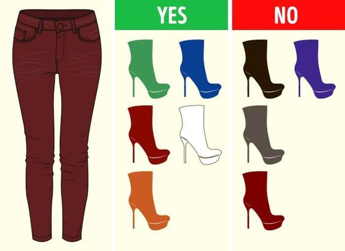 Mách bạn cách chọn màu giày kết hợp hoàn hảo với màu quần áo Ảnh 6