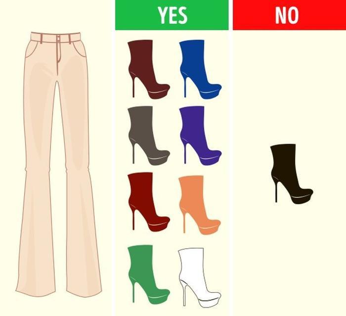 Mách bạn cách chọn màu giày kết hợp hoàn hảo với màu quần áo Ảnh 4