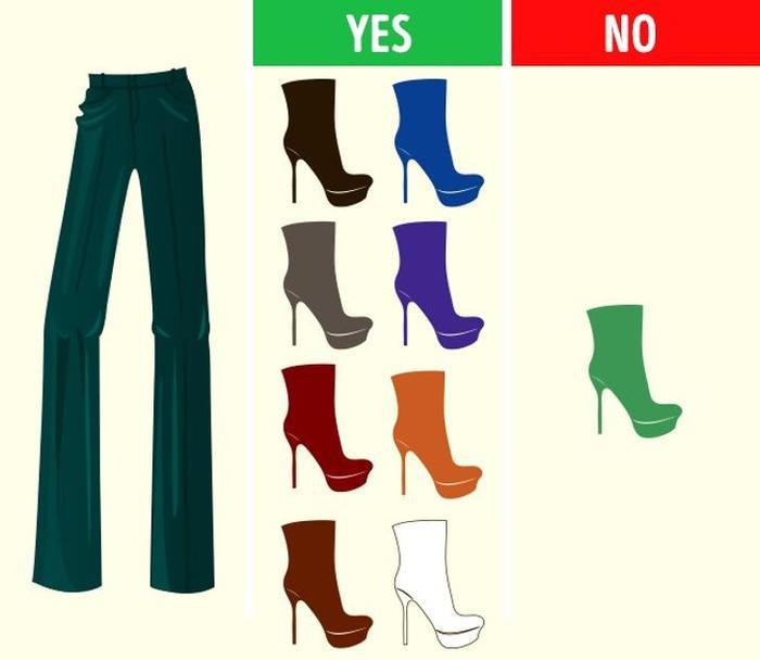 Mách bạn cách chọn màu giày kết hợp hoàn hảo với màu quần áo Ảnh 8