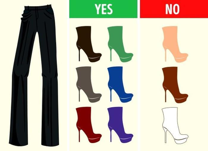 Mách bạn cách chọn màu giày kết hợp hoàn hảo với màu quần áo Ảnh 3