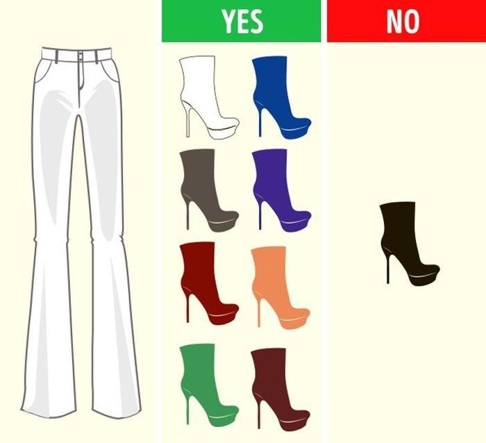 Mách bạn cách chọn màu giày kết hợp hoàn hảo với màu quần áo Ảnh 1