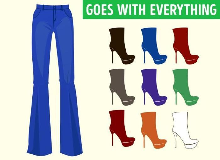 Mách bạn cách chọn màu giày kết hợp hoàn hảo với màu quần áo Ảnh 7