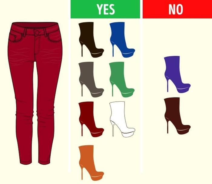 Mách bạn cách chọn màu giày kết hợp hoàn hảo với màu quần áo Ảnh 9
