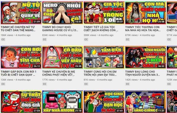 Kênh YouTube chứa nội dung độc hại với trẻ em ẩn toàn bộ video sau khi bị Cục Trẻ em 'điểm mặt gọi tên' Ảnh 1