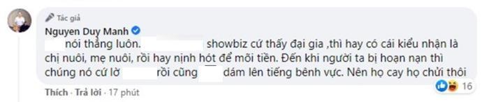 Giữa lùm xùm của bà Phương Hằng, Duy Mạnh 'phát ngôn sốc' về giới showbiz: 'Hoạn nạn thì chúng lờ đi' Ảnh 3