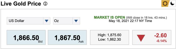 Giá vàng hôm nay 19/5: Bật tăng dữ dội, lên cao nhất trong gần 4 tháng Ảnh 1