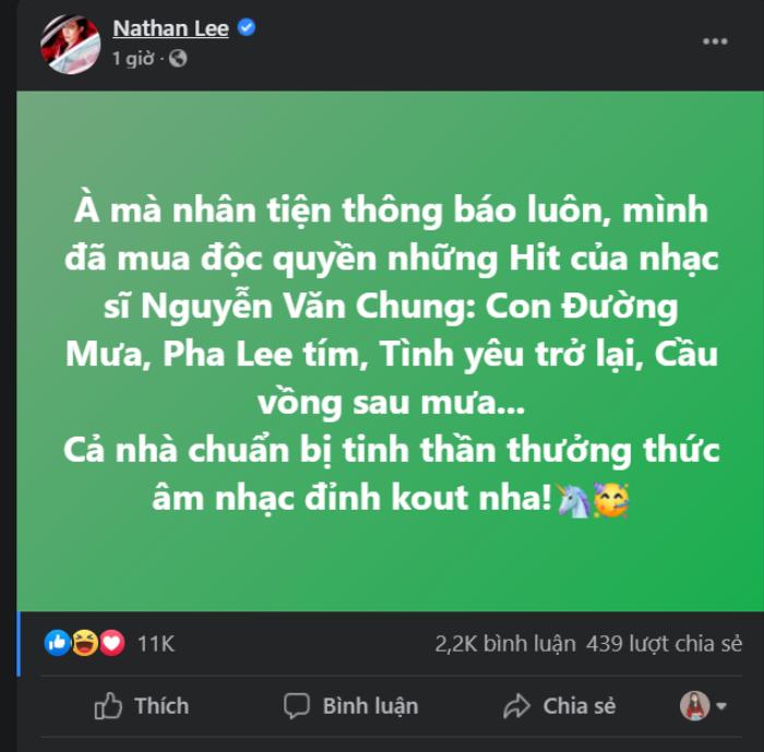 Nathan Lee mua độc quyền loạt hit Cao Thái Sơn: Quyết tâm 'triệt đường hát' của nam ca sĩ? Ảnh 3