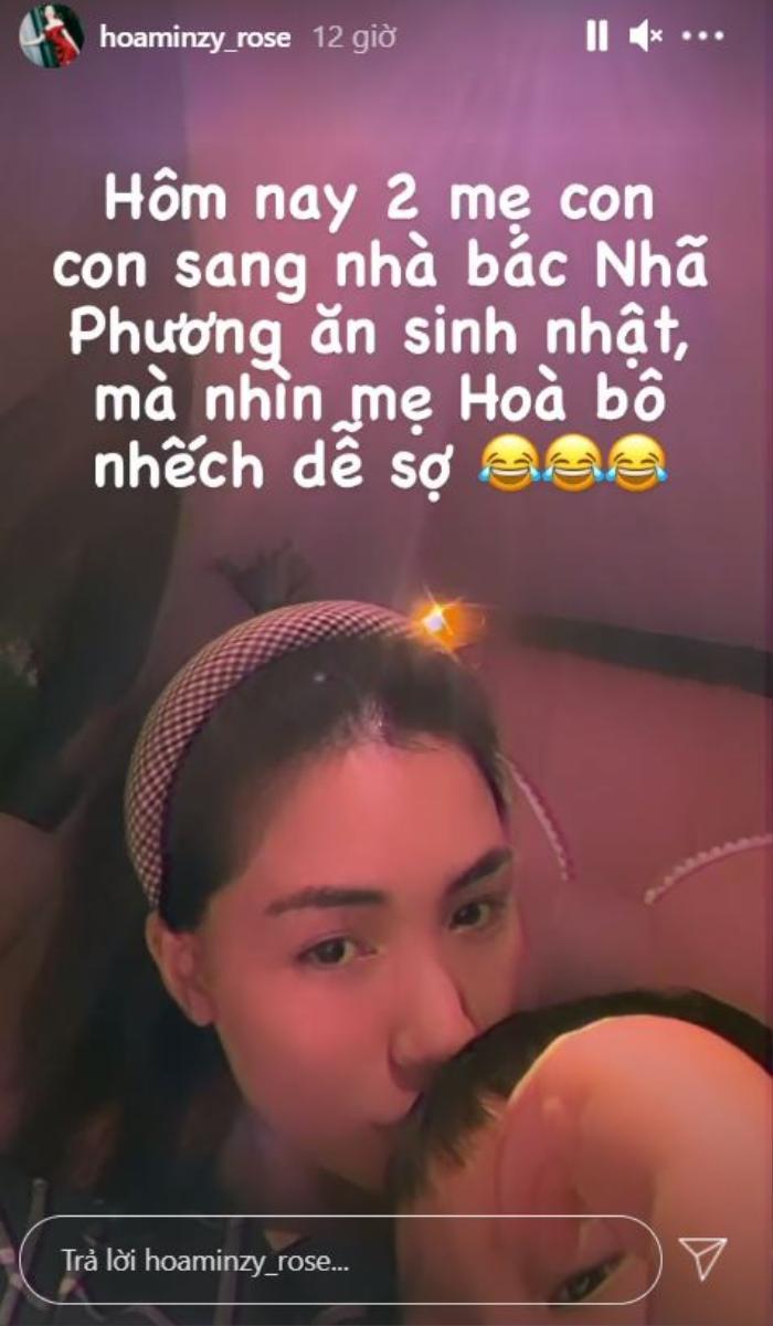 Đang 'so deep' hát mừng sinh nhật Nhã Phương, Hòa Minzy giật mình vì lời nhắc nhở này của Trường Giang Ảnh 2