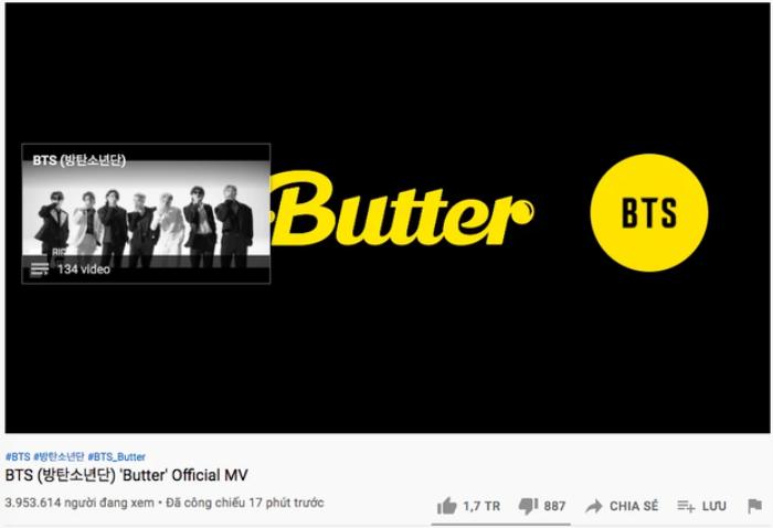 'Đánh sập' kỷ lục Dynamite, Butter trở thành MV đạt 10 triệu lượt xem nhanh nhất thế giới Ảnh 3