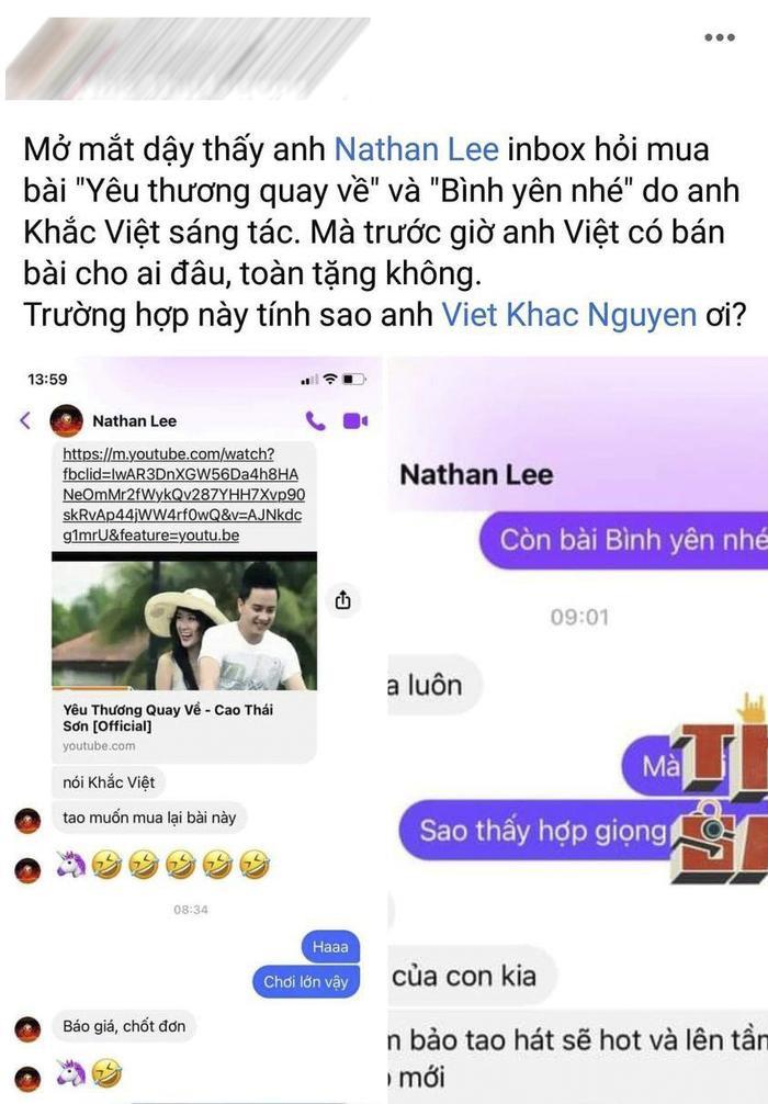 Sau Nguyễn Văn Chung, Nathan Lee tiếp tục 'vung tiền' mua loạt hit Khắc Việt sáng tác cho Cao Thái Sơn? Ảnh 3