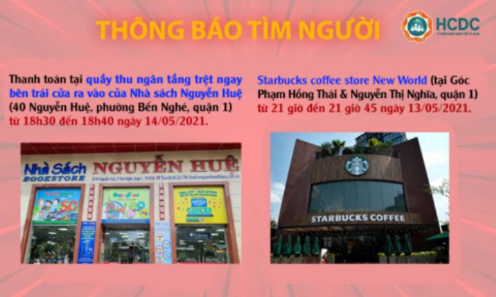 TP.HCM khẩn cấp tìm người đến nhà sách Nguyễn Huệ và tiệm Starbucks liên quan ca mắc COVID-19 Ảnh 1