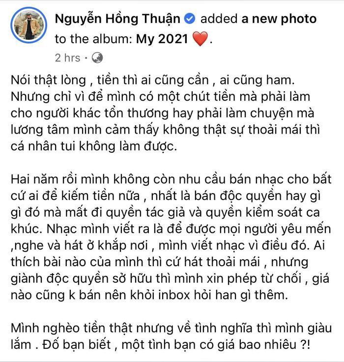 Lên tiếng giữa lùm xùm Nathan Lee - Cao Thái Sơn, nhạc sĩ Nguyễn Hồng Thuận bị 'ném đá' không thương tiếc Ảnh 3