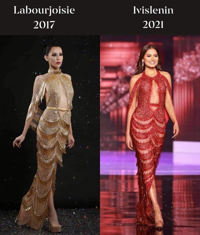 Xôn xao tin đồn váy đăng quang của Hoa hậu Hoàn vũ 2020 là hàng 'đạo nhái' Ảnh 1