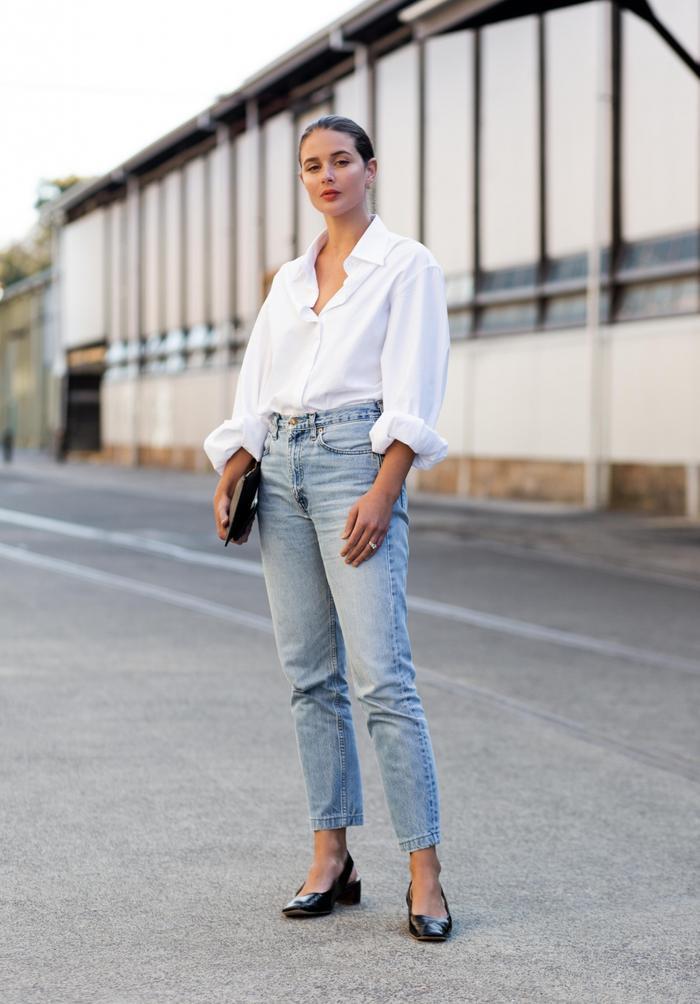 6 kiểu áo sơ mi trắng kinh điển nàng sành điệu không thể bỏ qua Ảnh 4