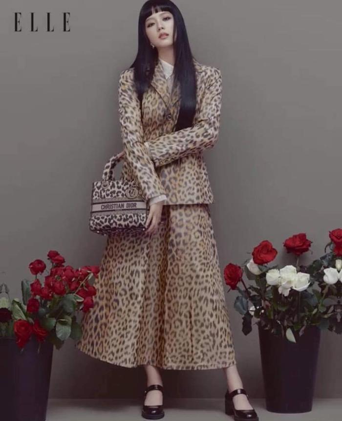Hoa hậu Tiểu Vy diện đồ họa tiết da báo ăn đứt nàng thơ Dior Jisoo Black Pink Ảnh 5