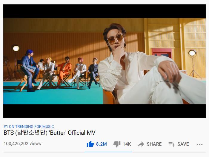 Thừa thắng xông lên, Butter của BTS tiếp tục lập kỷ lục mới về lượt xem Youtube Ảnh 2