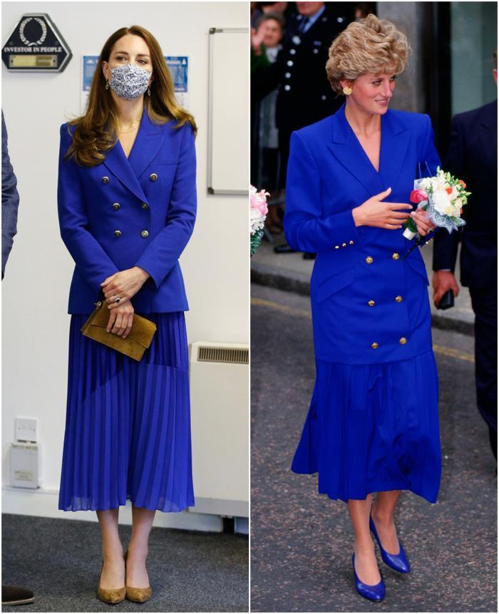 Công nương Kate tiếp tục diện cả set đồ xanh corban giống mẹ chồng Diana Ảnh 4