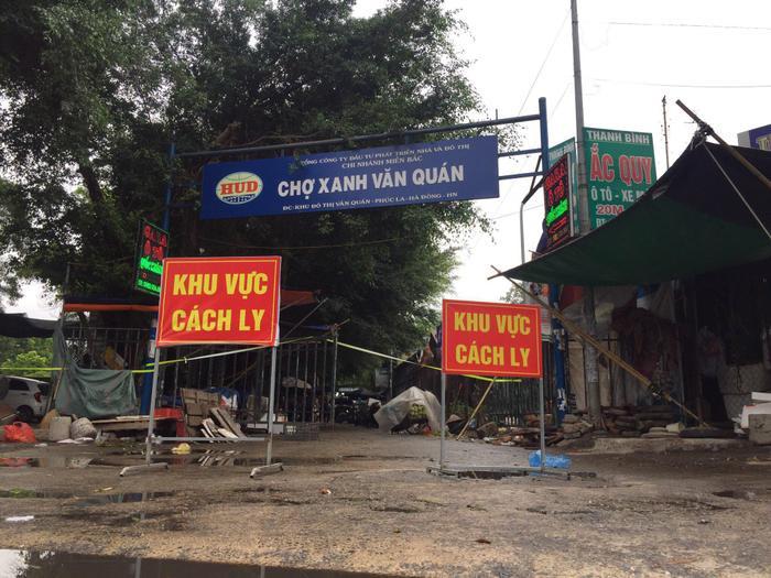 Hà Nội tạm phong toả chợ Xanh Văn Quán vì có ca nghi mắc COVID-19 Ảnh 1